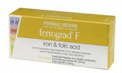 Ferrograd Folic Tablets 30 补铁补叶酸片 30颗