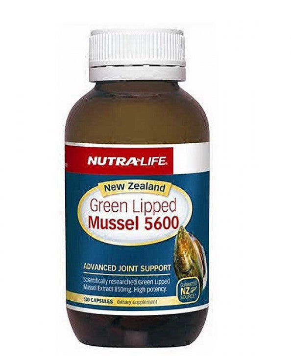Nutra-life New Zealand Green Lipped Mussel 5600 青口贝素5600毫克胶囊100粒 缓解关节炎风湿