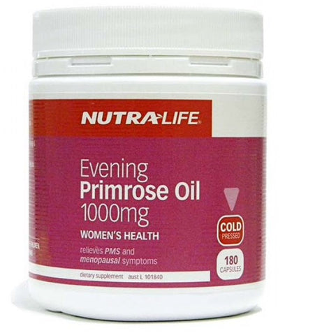 Nutra-life Evening Primrose Oil 1000mg Capsules 月见草油胶囊1000毫克180粒