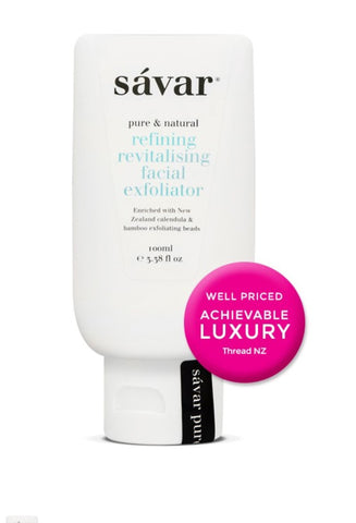 Savar Natural Refining Revitalising Facial Exfoliator 天然有机植物成分焕彩磨砂膏 100ml
