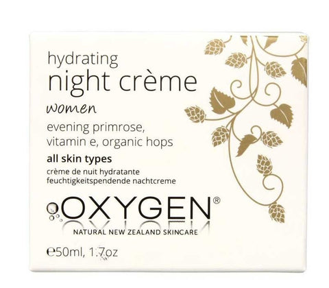 Oxygen Womens Hydrating Night Crème for all skin types 纯氧酵素保湿晚霜 50ml - 适用女士任何肤质
