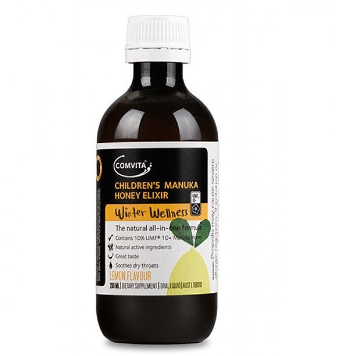 Comvita Children's Manuka Honey Elixir - Lemon Flavour 康维他儿童蜂胶蜜糖露柠檬味200ml