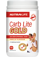 Nutra-life Carb Lite Gold Vanilla/Chocolate Flavour 500g 低热量减重增肌蛋白粉500克-巧克力/香草味