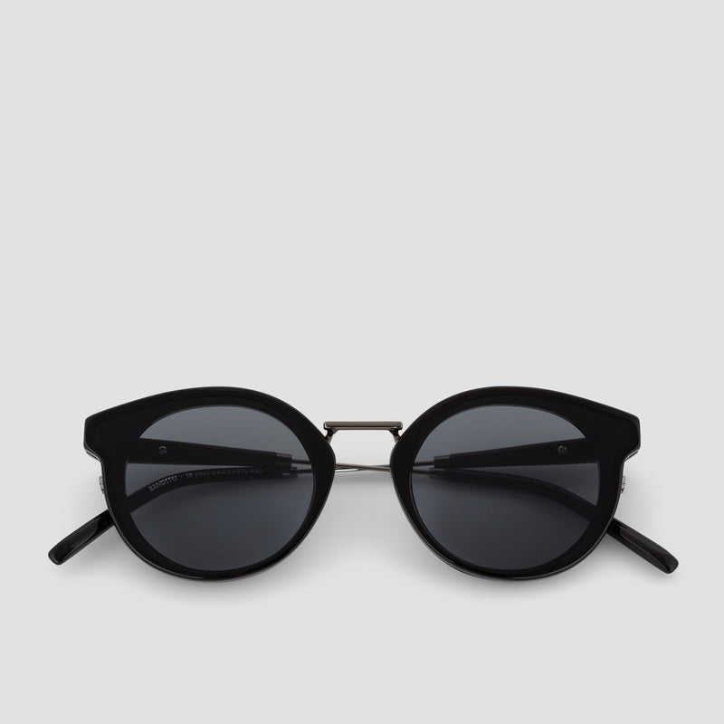Front View of Bandito Black-Black Sunglasses