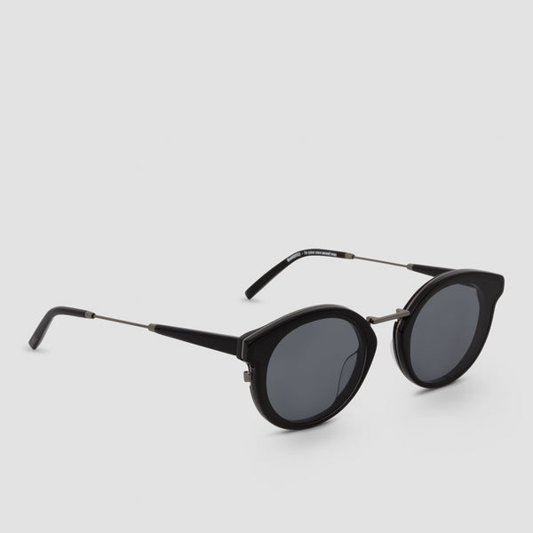 Quarter View of Bandito Black-Black Sunglasses