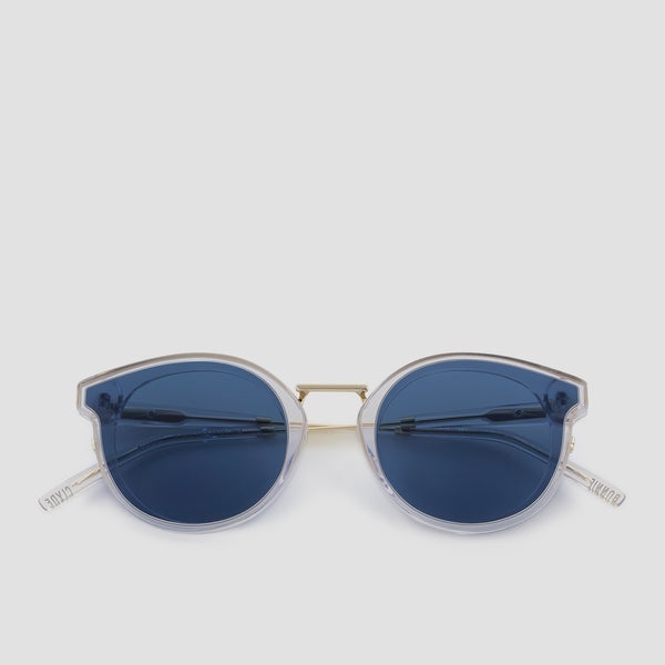 Front View of Bandito Pure Blue Sunglasses