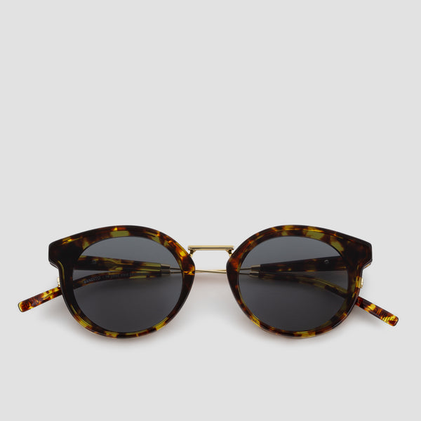 Front View of Bandito Tortoise Grey Sunglasses