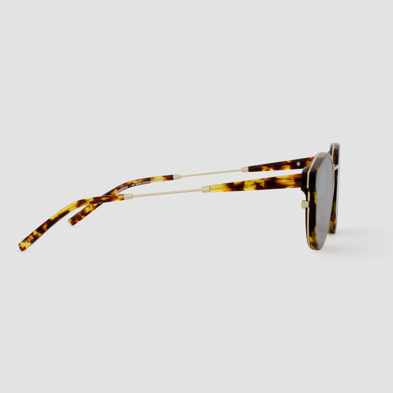 Side View of Bandito Tortoise Grey Sunglasses