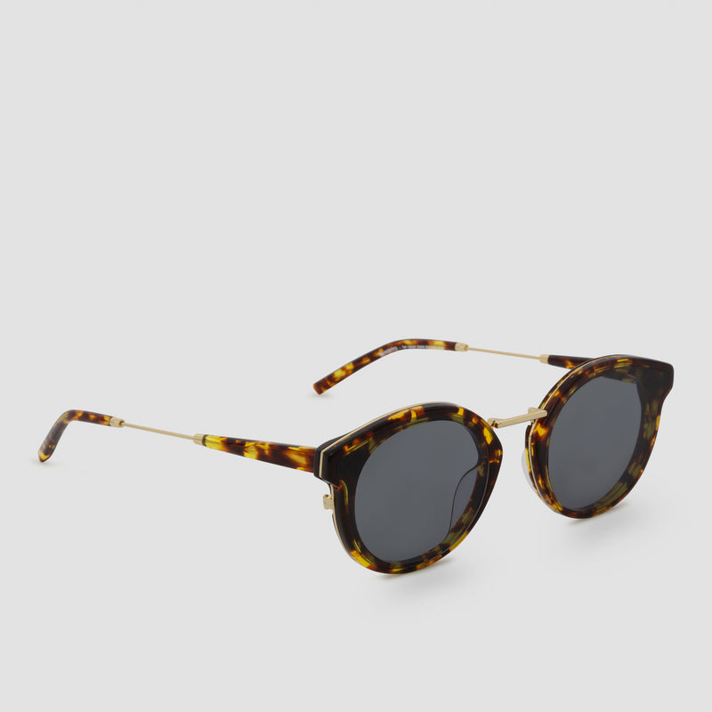 Quarter View of Bandito Tortoise Grey Sunglasses