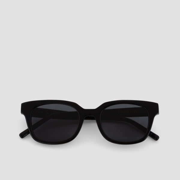 Front View of Chess Club Black-Black Sunglasses
