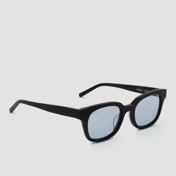 Quarter View of Chess Club Tian Blue Sunglasses