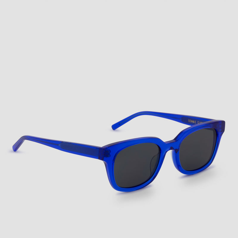 Side View of Chess Club Egyptian Blue Sunglasses