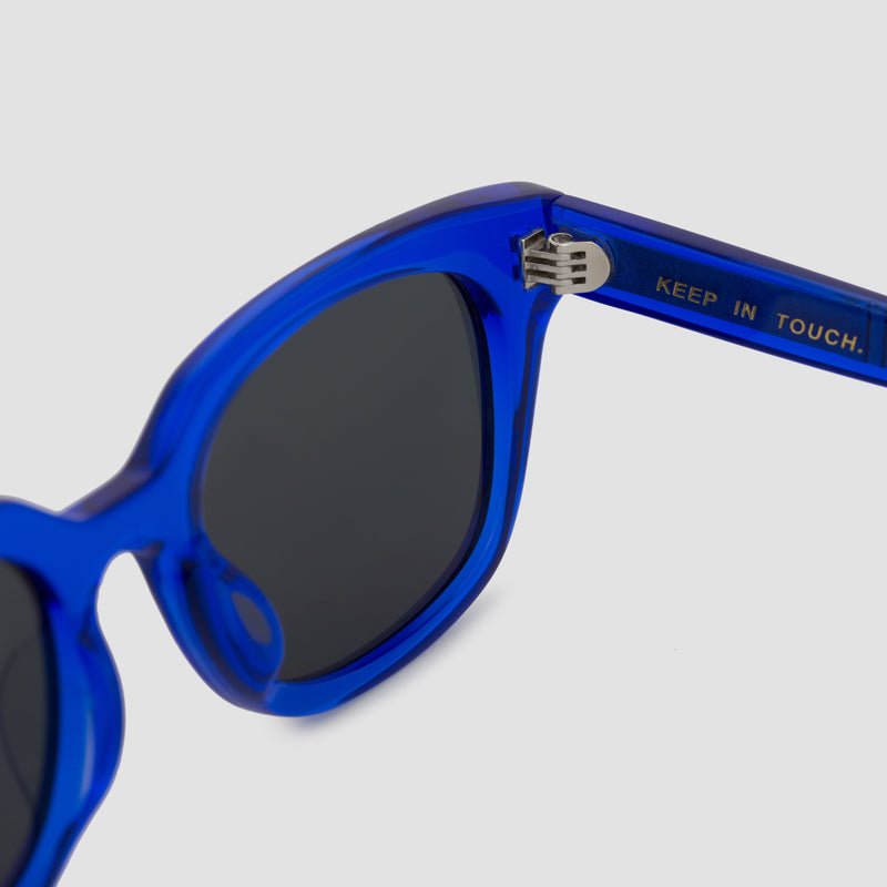 Detail Shot of Chess Club Egyptian Blue Sunglasses