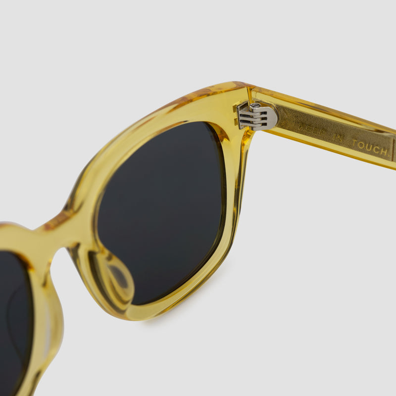 Detail shot of Chess Club Blond Black Sunglasses