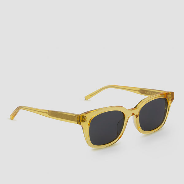 Quarter View of Chess Club Blond Black Sunglasses