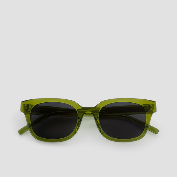 Front View of Chess Club Moss Black Sunglasses
