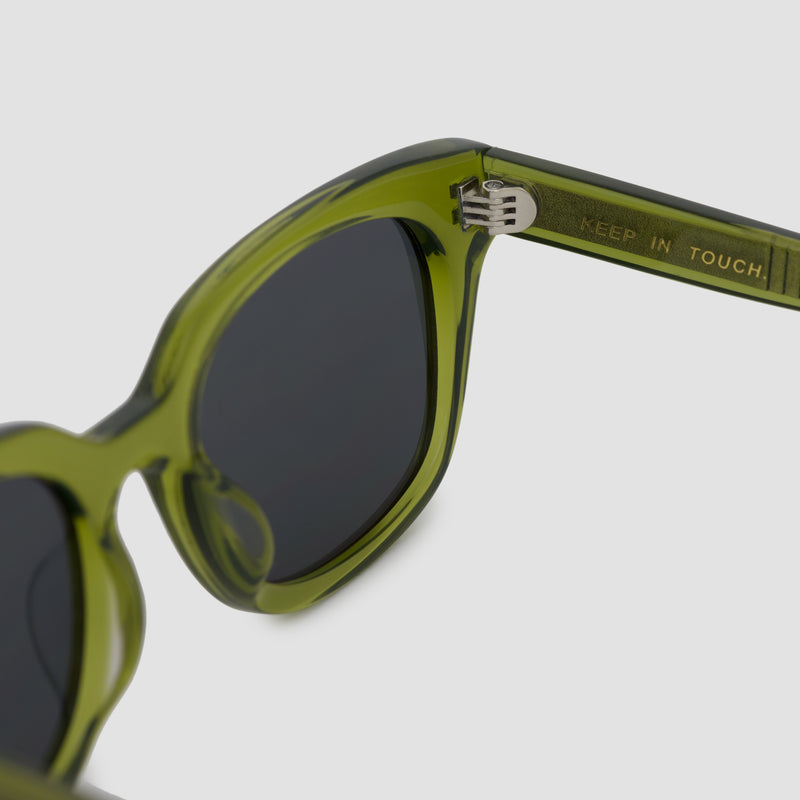 Detail shot of Chess Club Moss Black Sunglasses