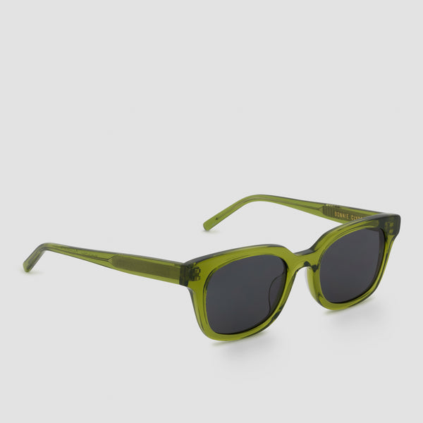 Quarter View of Chess Club Moss Black Sunglasses