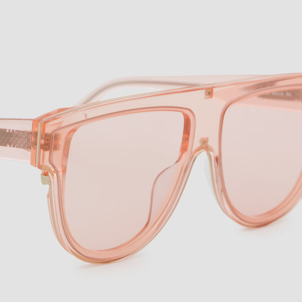 Detail shot of Continuum Coral Sunglasses