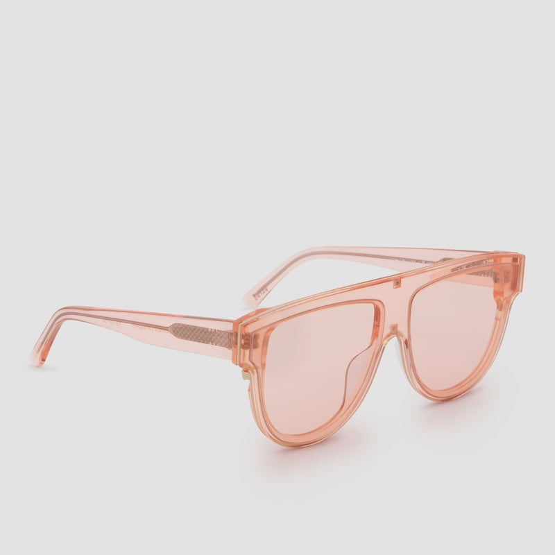 Quarter View of Continuum Coral Sunglasses