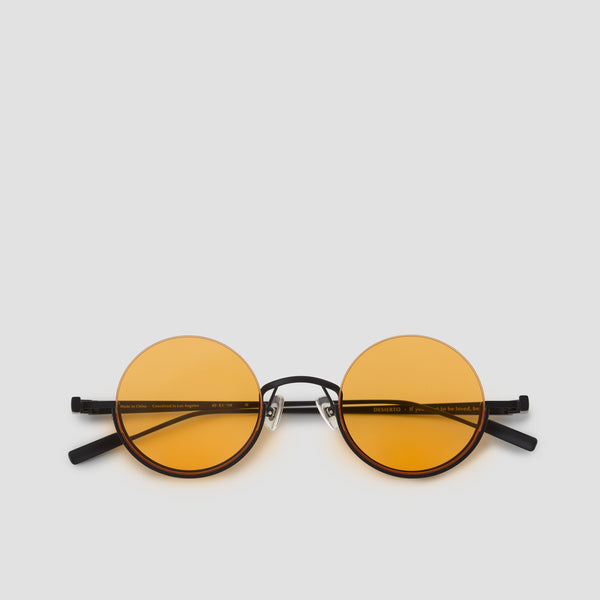 Front View of Desierto Black Orange Sunglasses