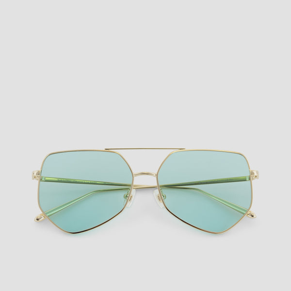 Front View of Figueroa Cold Gold Sunglasses