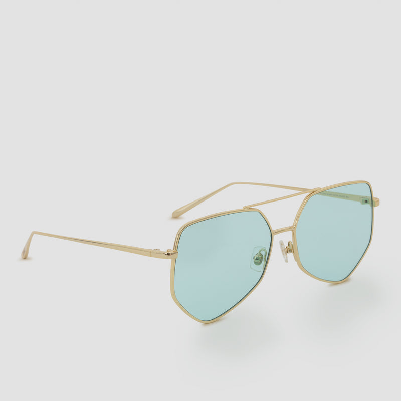 Quarter View of Figueroa Cold Gold Sunglasses