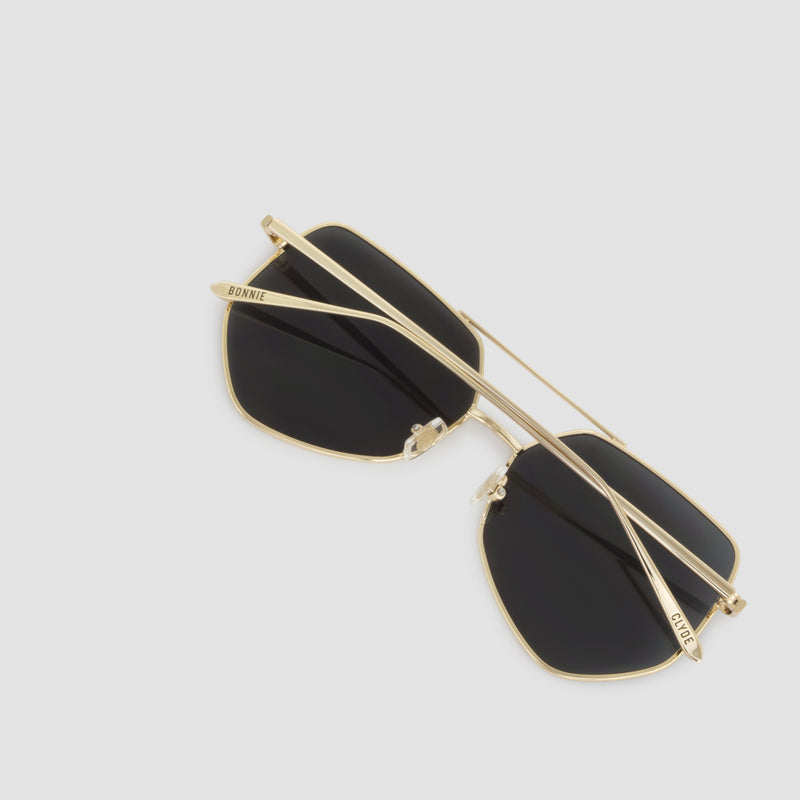 Detail shot of Figueroa Gold-Black Sunglasses