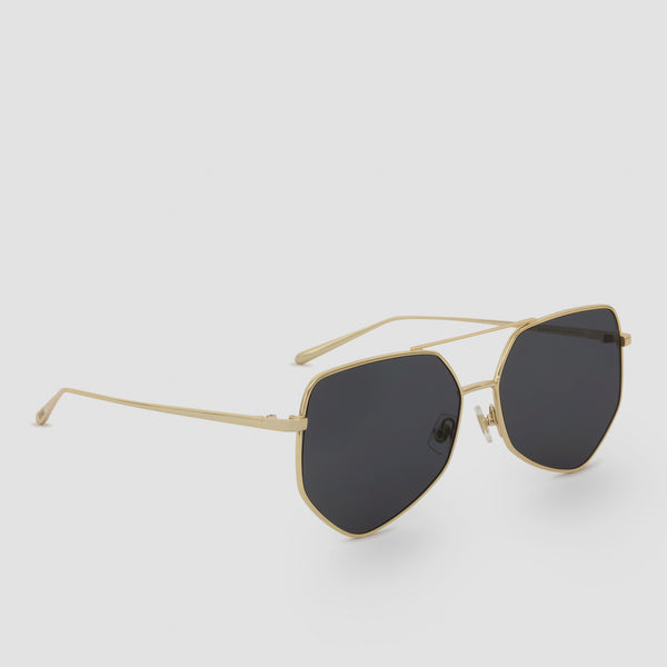 Quarter View of Figueroa Gold-Black Sunglasses