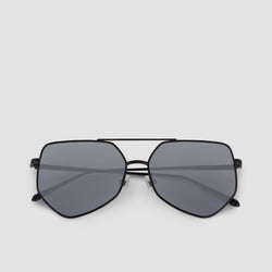 Front View of Figueroa Gravity Black Sunglasses