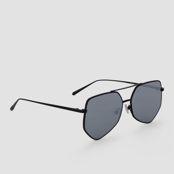 Quarter View of Figueroa Gravity Black Sunglasses