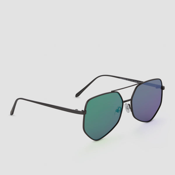 Quarter View of Figueroa Money Green Sunglasses
