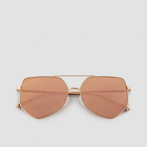 Front View of Figueroa Palace Gold Sunglasses