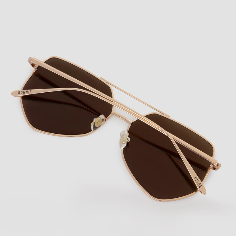 Detail shot of Figueroa Palace Gold Sunglasses