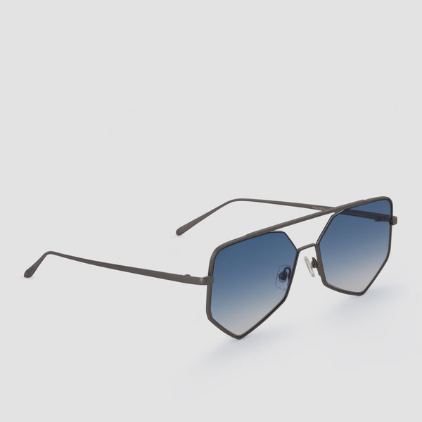 Quarter View of Figueroa II Blue Heron Sunglasses
