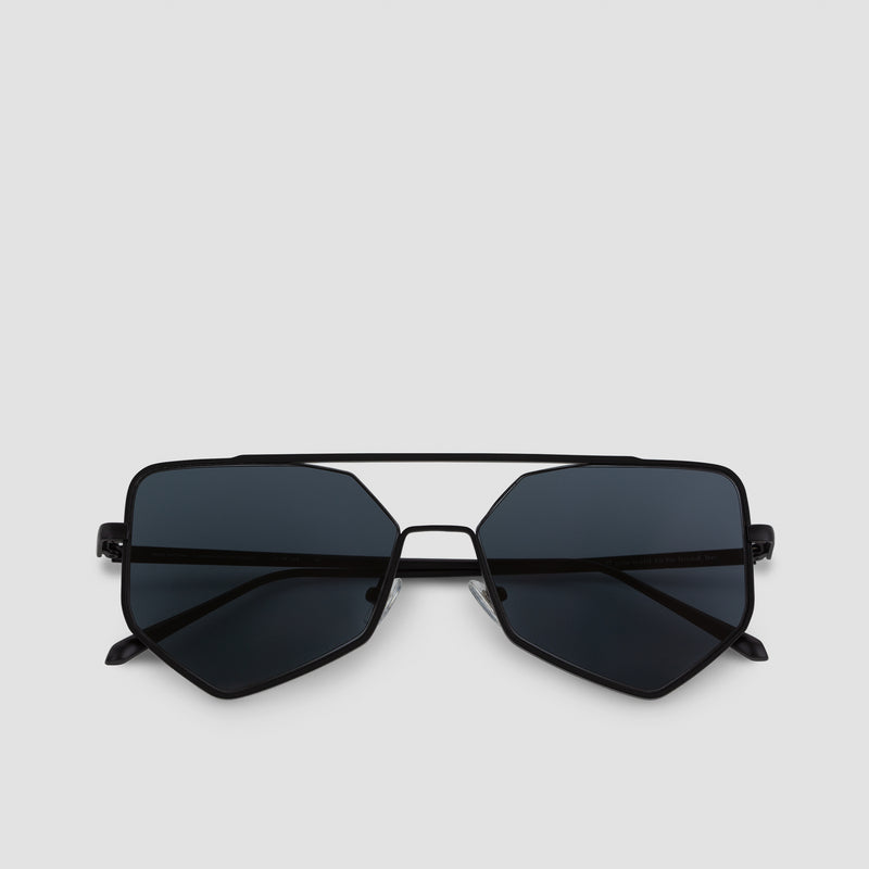 Front View of Figueroa II Raven Sunglasses