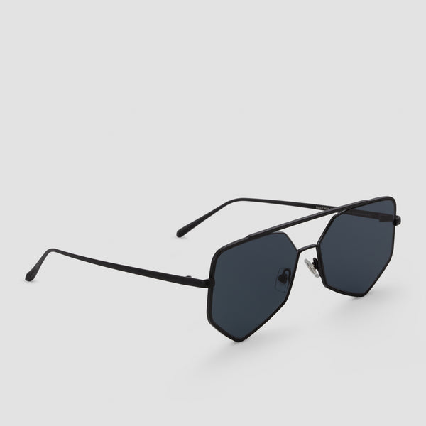 Quarter View of Figueroa II Raven Sunglasses