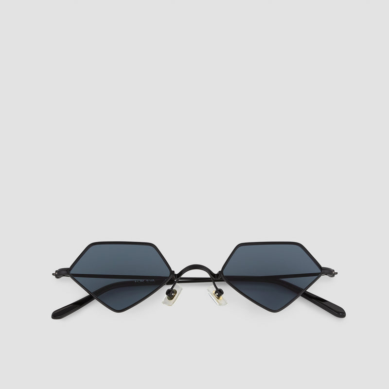 Front View of For Eva Black-Black Sunglasses