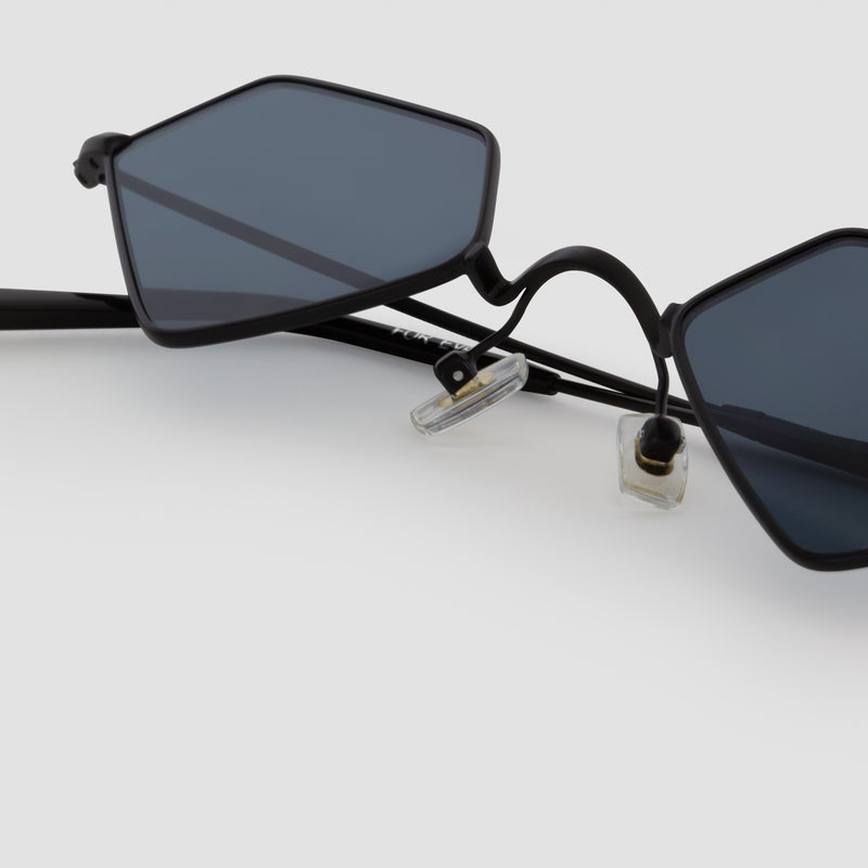 Detail shot of For Eva Black-Black Sunglasses
