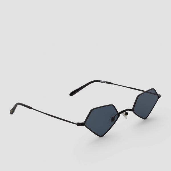 Quarter View of For Eva Black-Black Sunglasses