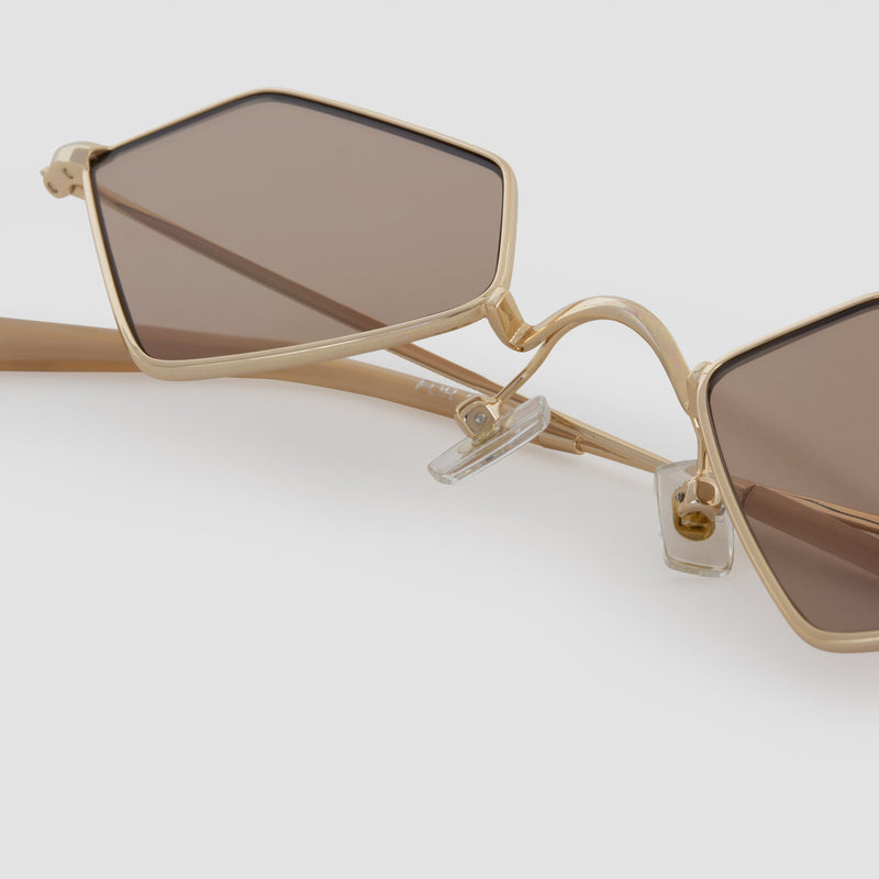 Detail shot of For Eva Butterscotch Sunglasses