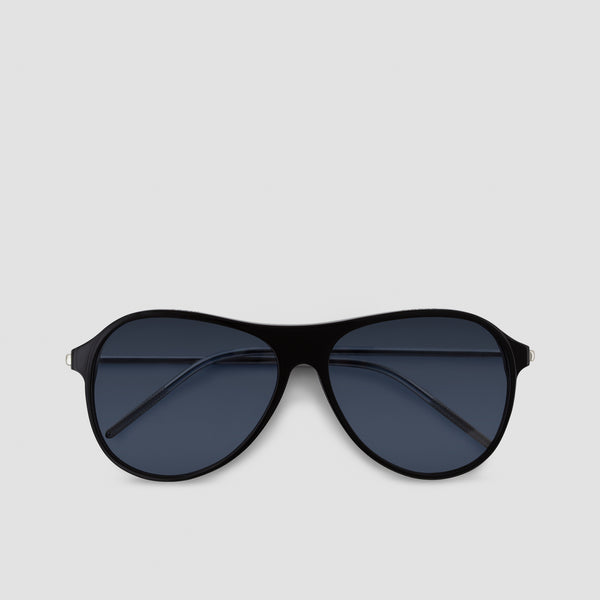 Front View of Godspeed Black-Black Sunglasses
