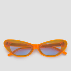 Front View of Hiro Neo-Orange Blue Sunglasses