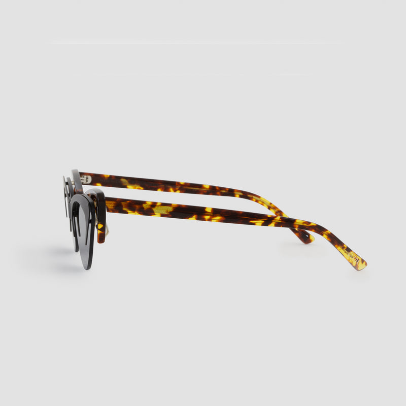 Side View of Layer Cake Coffee Toffee Sunglasses