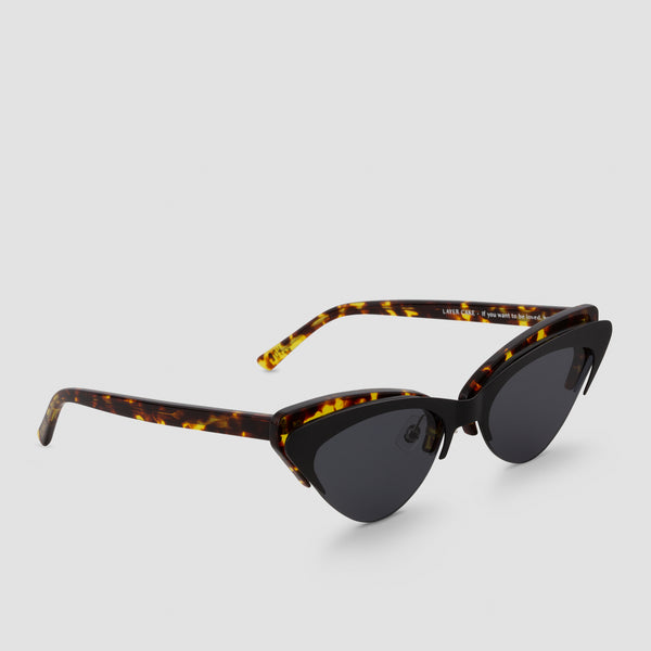 Quarter View of Layer Cake Coffee Toffee Sunglasses