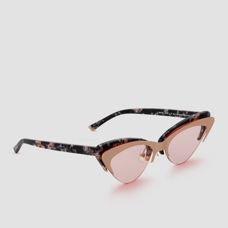 Quarter View of Layer Cake Creme Brulee Sunglasses