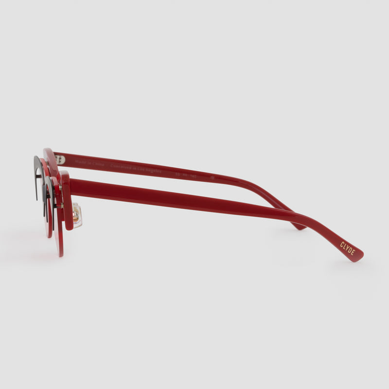 Side View of Layer Cake Red Velvet Sunglasses
