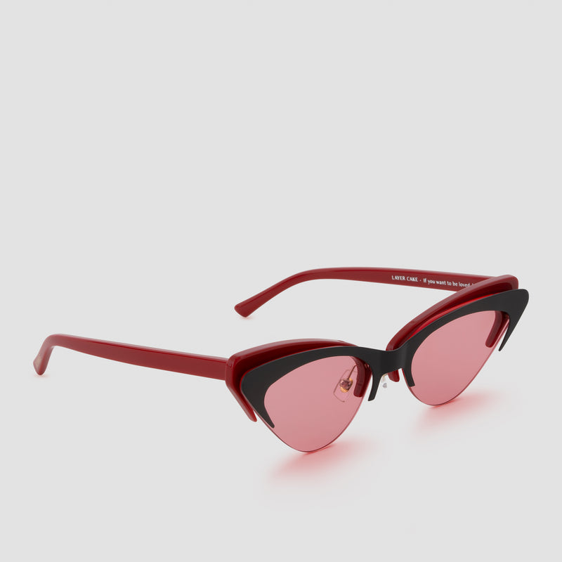Quarter View of Layer Cake Red Velvet Sunglasses