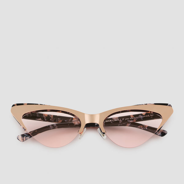 Front View of Layer Cake Creme Brulee Sunglasses