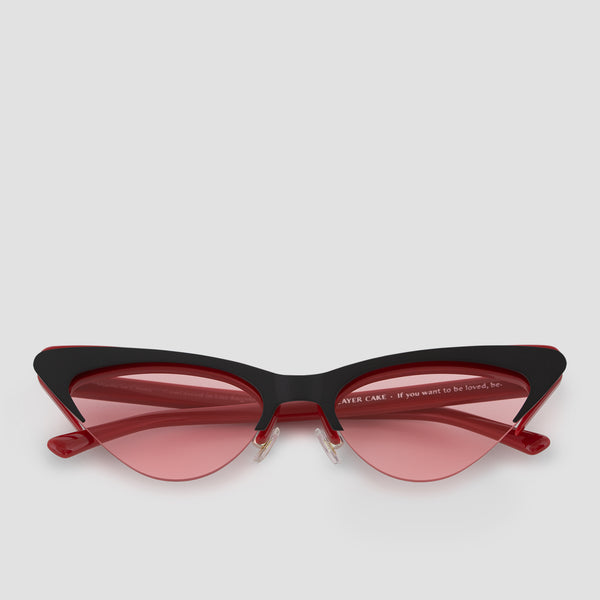 Front View of Layer Cake Red Velvet Sunglasses